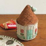【手作りパッチワーク】かわいい家の形 小物入れの作り方