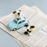 犬のあみぐるみの編み方 二匹のブチの色合いがかわいい♪