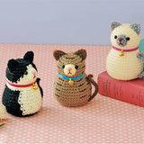 【簡単】ねこの編みぐるみの作り方(3種類の猫)