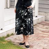 ウエストがゴムでラク!花柄のギャザースカートの作り方(スカート・ワンピース)