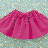 大きなリボンがアクセントでかわいい!女の子用の手作りスカートの作り方(子ども服)