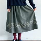 お花の刺しゅうがおしゃれ!ギャザースカートの作り方(スカート)