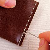 革の「往復縫い」の縫い方(レザークラフトの基礎)