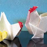 折り紙で作ろう!鶏(ニワトリ)の折り方(おりがみ)
