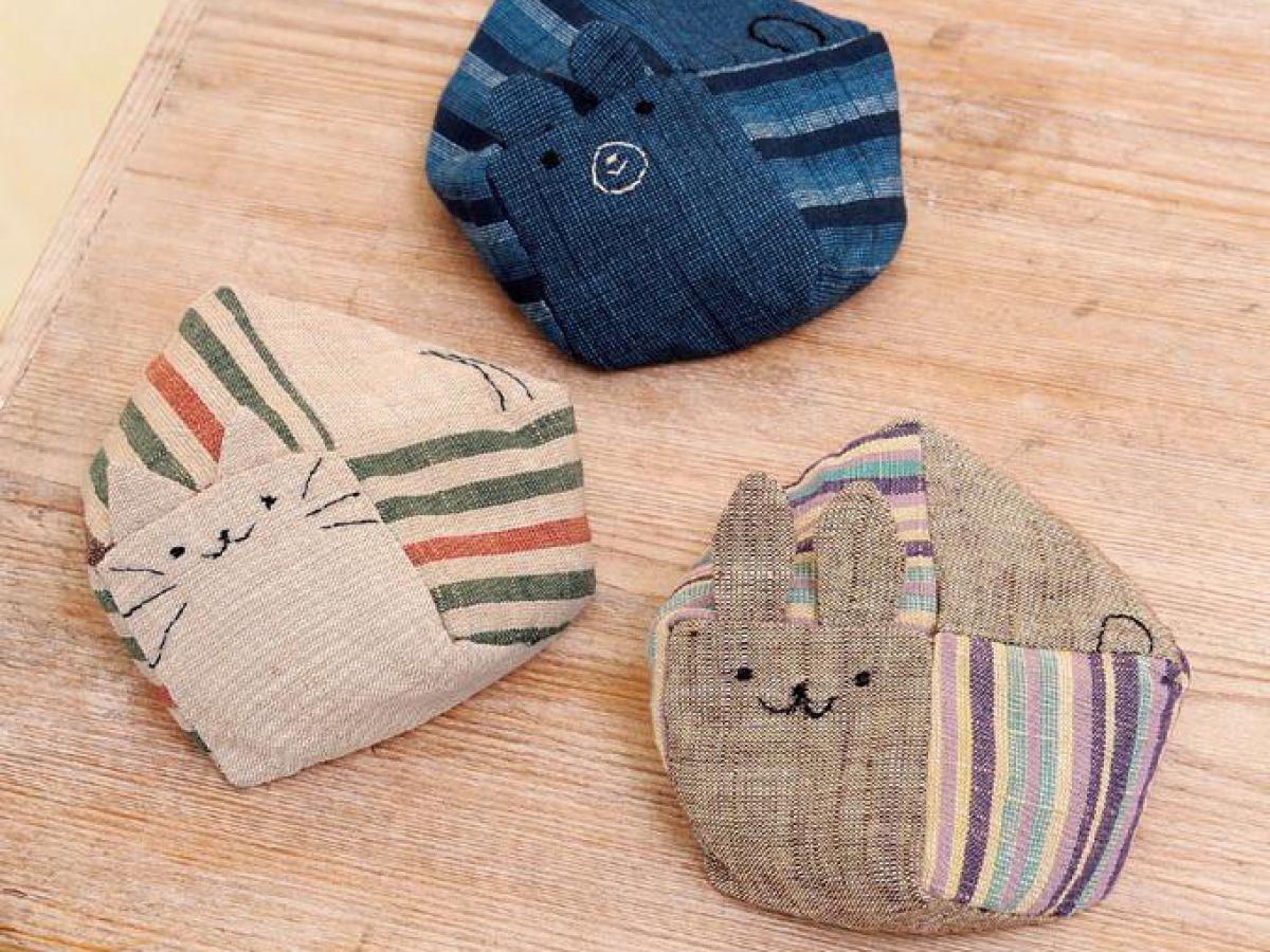 簡単に手作り!和布で作るかわいいネコ&くま&うさぎの動物お手玉の ...