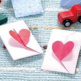 かわいいハートが付いた折り紙で作るポチ袋の折り方(おりがみ)