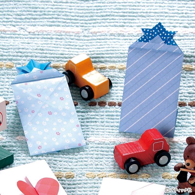 こどもの日やお正月に!折り紙で作る男の子向け兜のポチ袋の折り方(おりがみ)