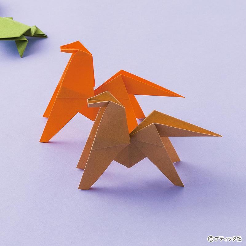 折り紙で折る動物☆空中でくるんと一回転する宙返り馬の折り方
