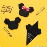 【折り紙】黒の折り紙で作る!ミッキーとミニーのお手紙の折り方