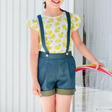 夏にぴったり!女の子用のサスペンダーつきショートパンツの作り方(子ども服)