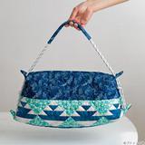 長さは調節可能!パッチワークのマリンブルーの夏バッグの作り方(バッグ)