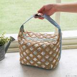 夏らしいかごバッグ風!パッチワークで作る かご風ハンドバッグの作り方(バッグ)