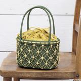 浴衣におすすめ!夏らしいクラフトバンドで作る巾着つき かごバッグの作り方(バッグ)
