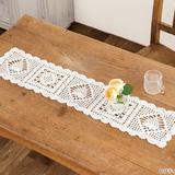 かぎ針編みで手作り!お花とパイナップルモチーフのテーブルランナーの作り方(編み物)