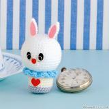 【ディズニーキャラクター】白うさぎのあみぐるみの編み方