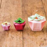 折り紙の箱の折り方!可愛い「いちご型の箱」の作り方
