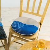夏にぴったり!藍染めと麻布で作る 涼しげな円形の座布団の作り方