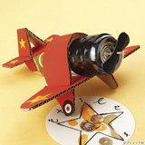 夏休み工作におすすめ!プロペラが回る飛行機の手作り貯金箱の作り方