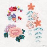 和風のお花模様の刺しゅうの図案