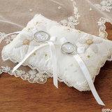 結婚式に!レースやお花がおしゃれな、手作りのリングピローの作り方
