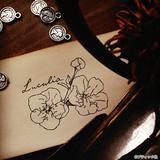 おしゃれ!ボタニカルな3種類の花の消しゴムはんこの作り方・図案