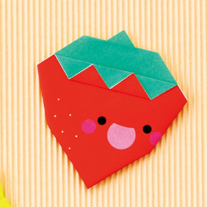 子どもも大好き!一緒に楽しめる 簡単かわいい折り紙のいちごの折り方(