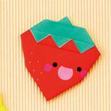 子どもに人気!簡単かわいい折り紙の平面のいちごの折り方
