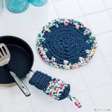 初心者におすすめ!ズパゲッティで編むオリジナル鍋敷きの作り方