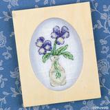 スミレの花のおしゃれなクロスステッチの図案