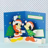 飛び出る!ミッキーとミニーの手作りクリスマスカードの作り方