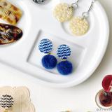 3Dアートレジンで作る ピーコック柄のイヤリングの作り方