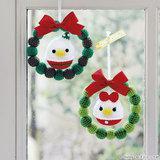 ドナルド&デイジーの手編みのクリスマスリースの編み方