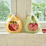 ハギレで作る!りんごのアップリケがかわいい巾着の作り方
